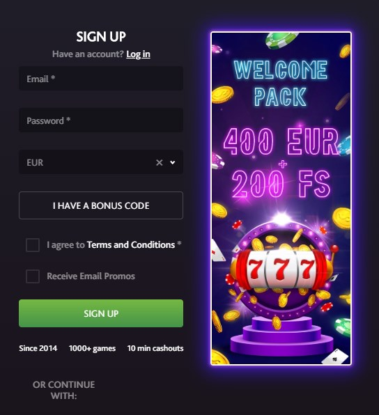 7Bitcasino sign up