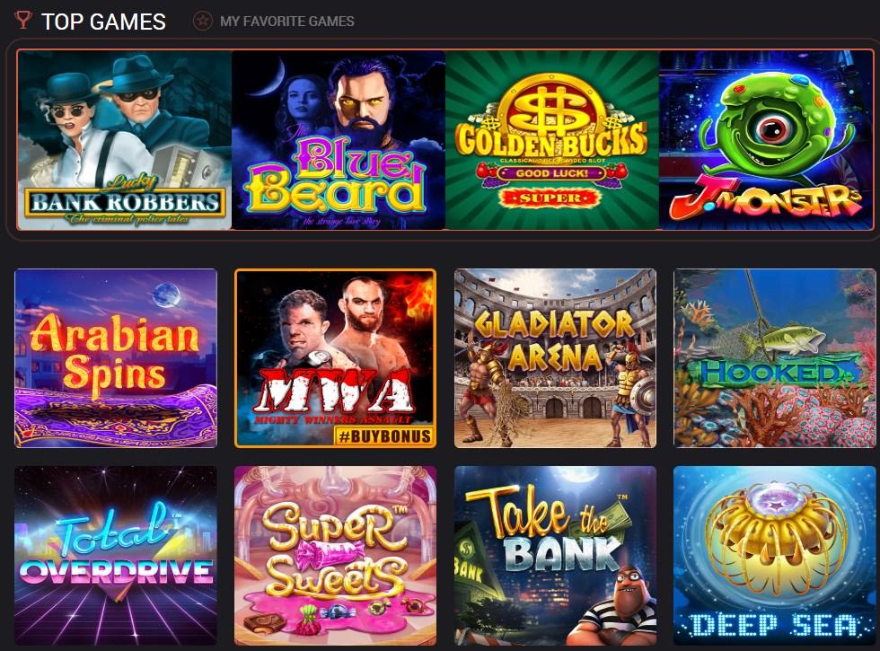 Mars casino games