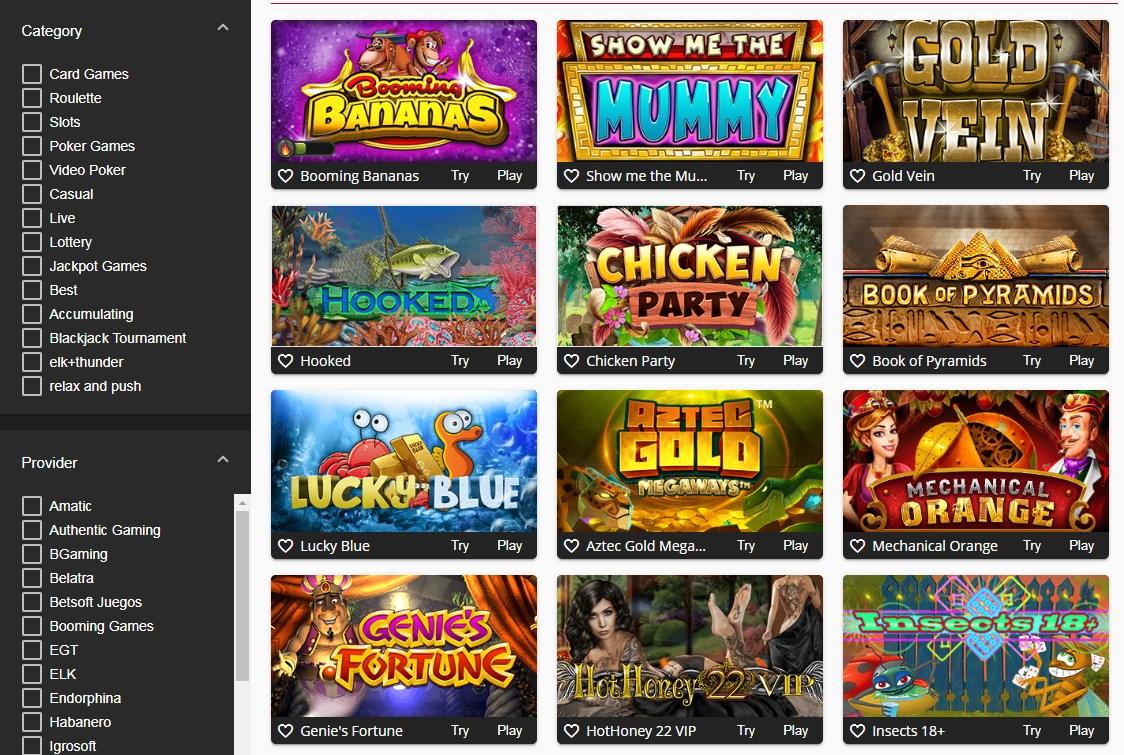 Softswiss casino Oshi casino games